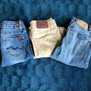 3 pair of boys size 10 jeans